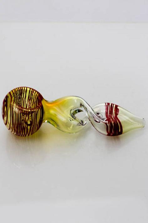 "4.5"" Changing color twist glass hand pipe Flower Power Packages"