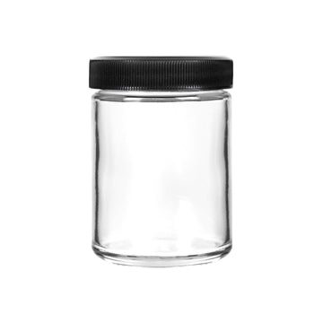 4oz Glass Jars with Black Caps - 7 Grams - 120 Count