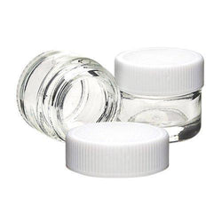 5ml Glass Concentrate Container With White Cap - Non-CR Child Resistant (364 Count)