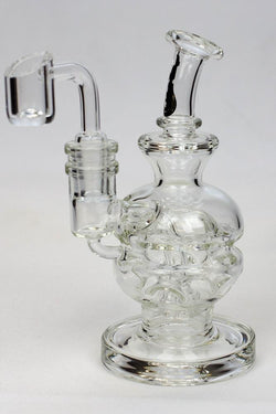 "6"" Double glass recycle rig with shower head diffuser"