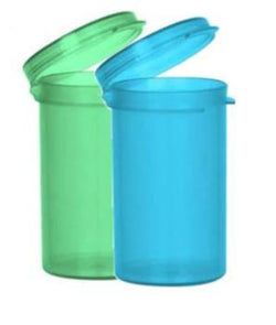 6 Dram Hinged Lid Vials (Blue or Green) (600 Count)