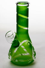 "6"" glass water bong Flower Power Packages Green-3977"