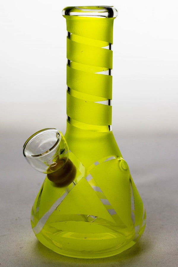 "6"" glass water bong Flower Power Packages Yellow-3976"