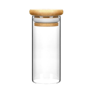 6oz Wood Lid Suction Glass Jars 10 Grams 120 Count