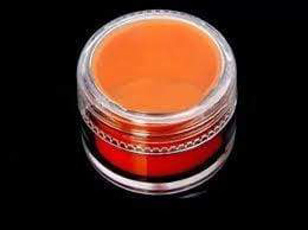 7 mL Acrylic Concentrate Container w/ Silicone Insert (50 Count) Flower Power Packages Orange