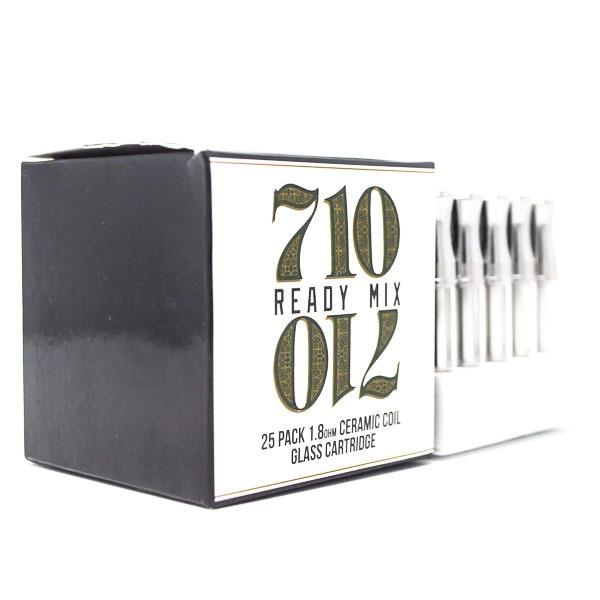 710 Ready Mix - G3 Glass Cartridge 1ml Ceramic 25pk Flower Power Packages Default
