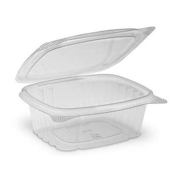 8 Oz Clear Hinged Containers 200 Count