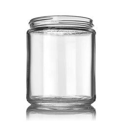 8oz Glass Jar Black Child Resistant CR Lid (24 Count) 100% Recyclable