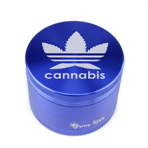 Addidas Designer Inspired 4 Piece Leaf Grinder at Flower Power Packages