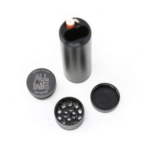 Allin1E Smoking System includes Herb Grinder, Storage, Tool and Cap (Count 1) Flower Power Packages