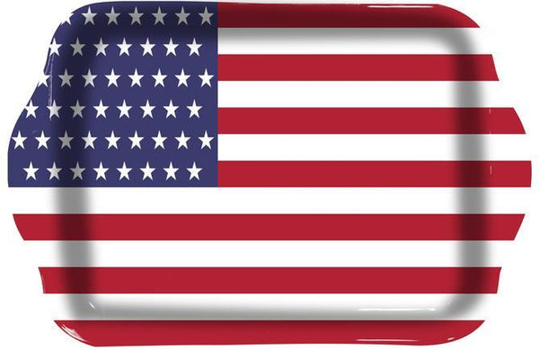 American Flag Rolling Tray at Flower Power Packages