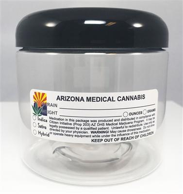 Arizona Medical Cannabis Warning Labels at Flower Power Packages