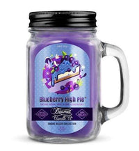 Beamer Candle- Smoke Killer Collection 12oz Mason Jar Flower Power Packages Blueberry High Pie