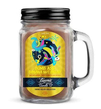 Beamer Candle- Smoke Killer Collection 12oz Mason Jar Flower Power Packages Bomb Ass Banana Nut Bread