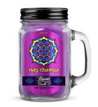 Beamer Candle- Smoke Killer Collection 12oz Mason Jar Flower Power Packages Nag Champa