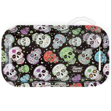 Beamer Medium Metal Tray-sugar Skull