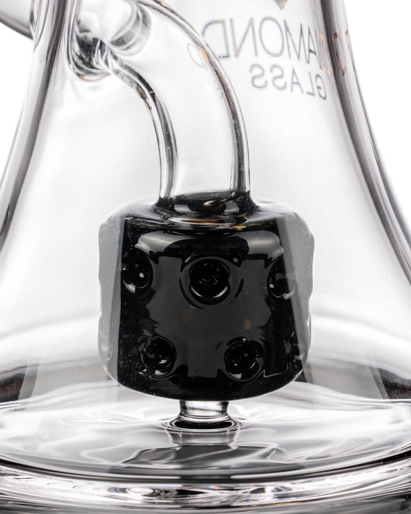 Diamond Glass Big Puck Dab Rig Closeup of Puck Perc at flower power packages