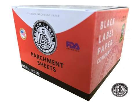 "Black Label Co. Parchment Paper Sheets, Natural Silicone 4"" x 4"" 27lb Plus (1000 Count) Flower Power Packages"