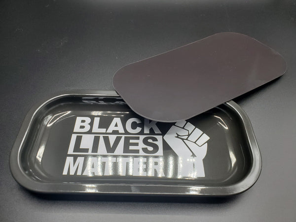 Black Lives Matter Magentic Rolling Tray Flower Power Packages