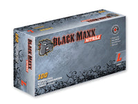 Black Maxx Nitrile Exam Gloves (Case) at Flower Power Packages