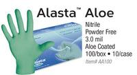 Blue Alasta With Aloe Nitrile Exam Gloves (Case) at Flower Power Packages