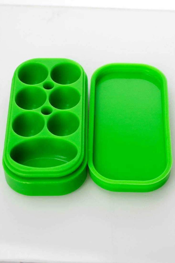 Brick Multi compartment Silicone Concentrate Container Flower Power Packages