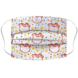 Chubby Unicorn and Rainbow Pattern Face Mask Cover