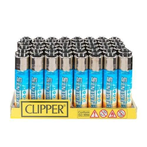 Clipper Elements Lighters (48 Count) Flower Power Packages