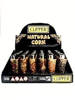 Clipper Lighter Cachemir Cork Display (24 Count)