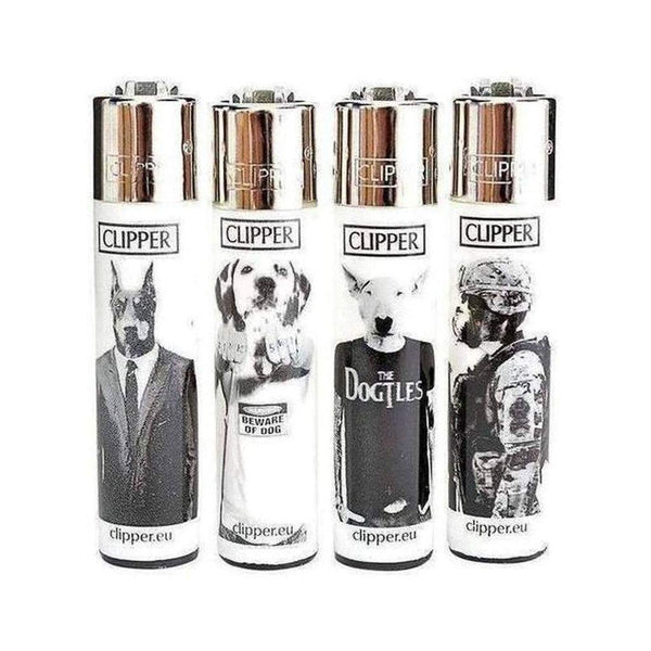 48 x Clipper Lighters full size with Display DOGGIES