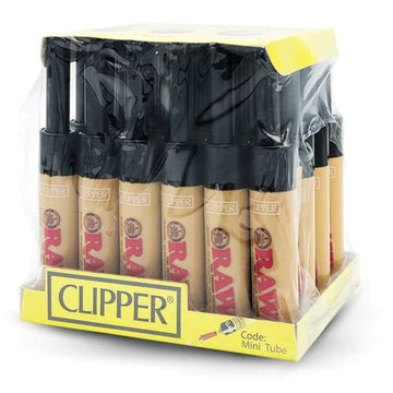Clipper Lighter Mini Tube Raw Utility Lighter (24 Count)