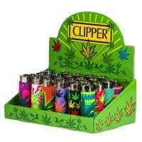 Clipper Lighter Pop Leaves Cover (24 Count) Display