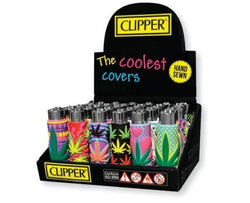 Clipper POP Lighters - Leaves Cover (30 Count Display)