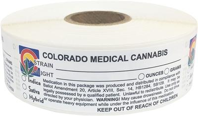 Colorado Medical Cannabis Warning Labels at Flower Power Packages