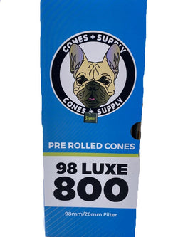 Cones + Supply Classic 98MM Luxe Cones 800 Count