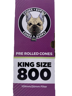 Cones + Supply Natural King Size Cones 109mm (800 Count)