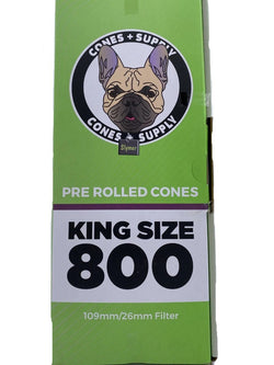 Cones + Supply Organic Hemp King Size Cones 109mm 800 Count