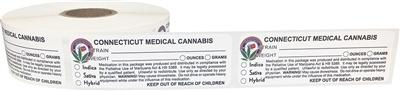 Connecticut Medical Cannabis Warning Labels at Flower Power Packages