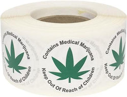 Contains Generic Cannabis Warning Labels 500 Roll