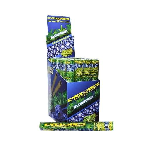 Cyclones Hemp Blueberry Cone (24 Count) 2per Pk W/tips at Flower Power Packages