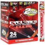 Cyclones Pre Rolled Cone Clear Strawberry (24 Pack / 2 Count) Flower Power Packages
