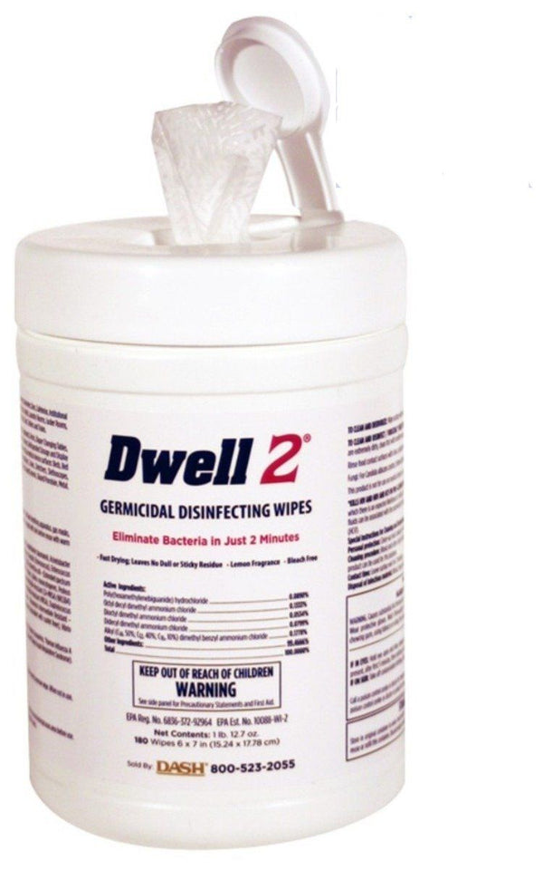 Dwell2 Germicidal Wipes (L) - Alcohol Free at Flower Power Packages