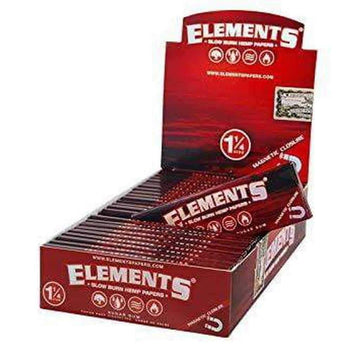 "Elements Red Magnetic 1 1/4"" Rolling Paper"