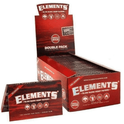 Elements Red Single Wide Slow Burn Rolling Papers
