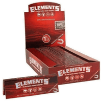 Elements Red Slow Burn 1 1/4 Smoking Papers at Flower Power Packages