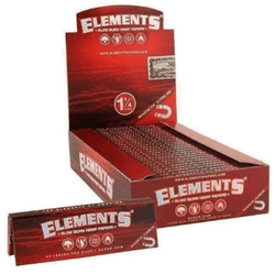 Elements Red Slow Burn 1 1/4 Smoking Papers