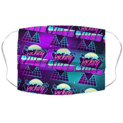 F***ing YIKES Retro Wave Face Mask Cover