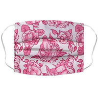 Floral Penis Pattern Pink Face Mask Cover Flower Power Packages