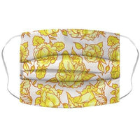 Floral Penis Pattern Yellow Face Mask Cover Flower Power Packages