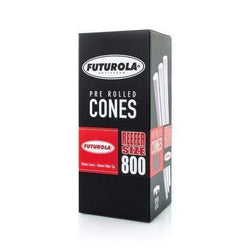 Futurola Reefer Size - Pre Rolled Cones 98mm x 26mm Dutch Brown or Classic White (800 Count)